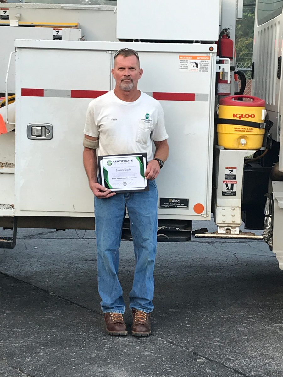 2018 Basic SCL Recipient David Vaughn from Caney Fork Electric Cooperative