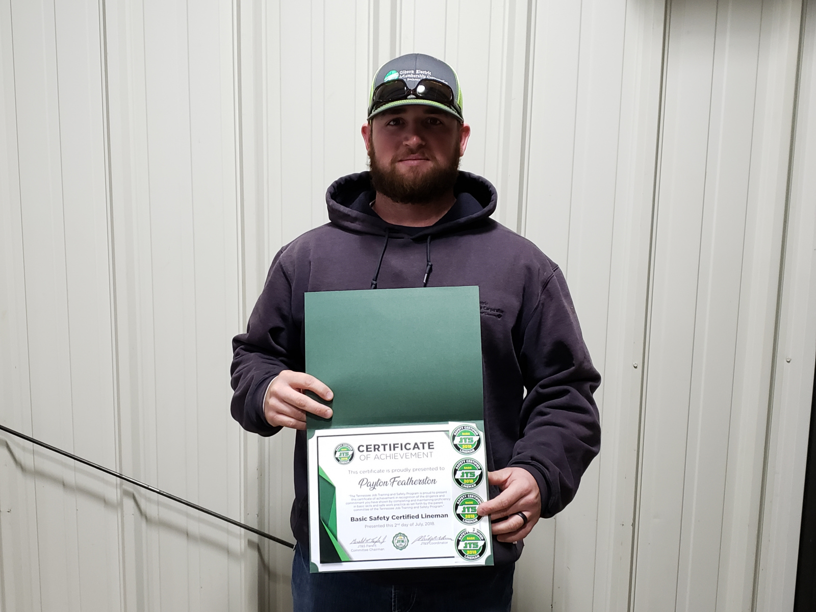 2018 Basic SCL Recipient Payton Featherston from Gibson Electric Membership Corporation