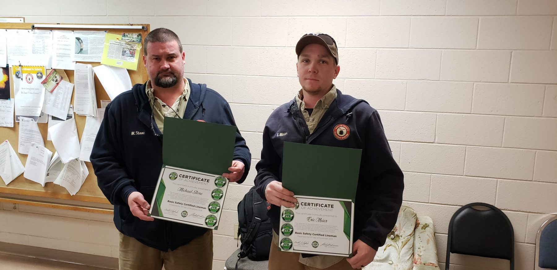 2019 Basic SCL Recipients Michael Stone and Eric Meier from Benton County Electric System