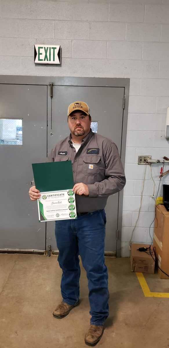 2019 Basic SCL Recipient Jason Bell from Bolivar Energy Authority