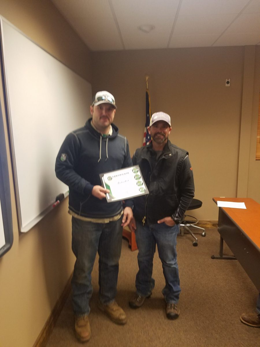 2019 Basic SCL Recipient Jordan Best with Fort Loudon Electric Cooperative Safety Coordinator Kevin Massingale