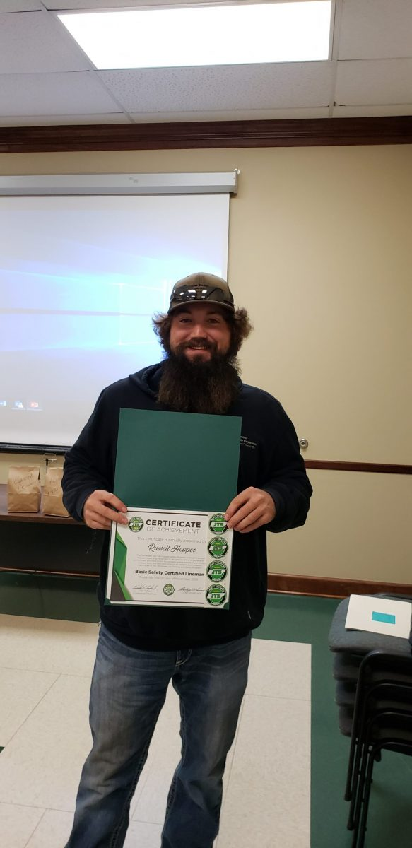 2019 Basic SCL Recipient Russell Hopper from Gibson Electric Membership Corporation