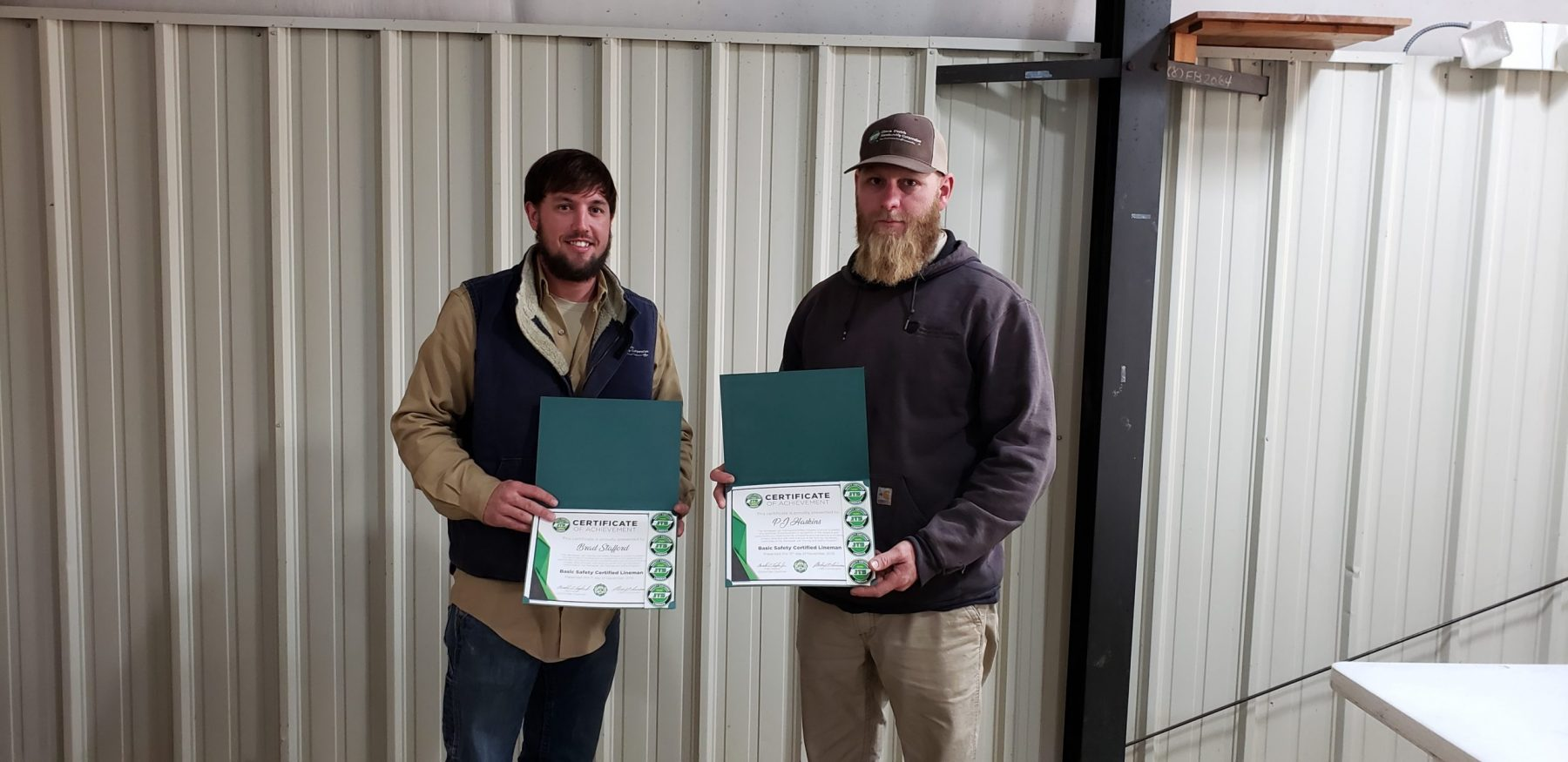 2019 Basic SCL Recipients Brad Stafford and PJ Haskins from Gibson Electric Membership Corporation