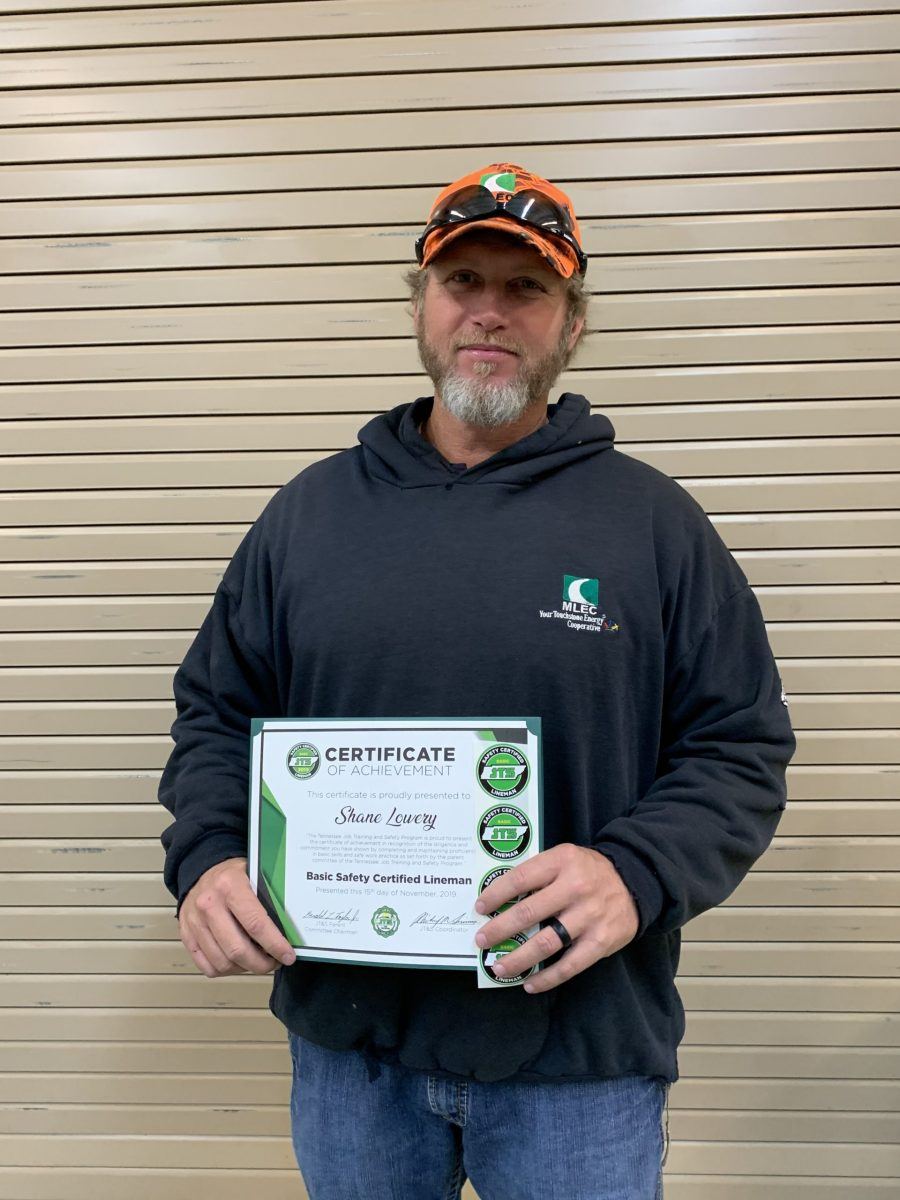 2019 Basic SCL Recipient Shane Lowery from Meriwether Lewis Electric Cooperative